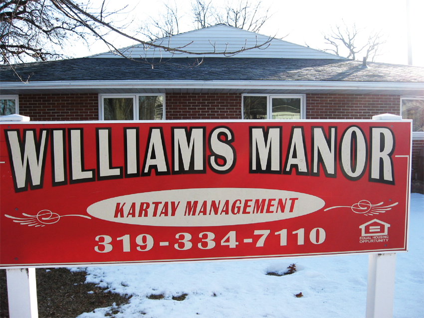 Williams Manor Apartments for Rent in Independence, Iowa.