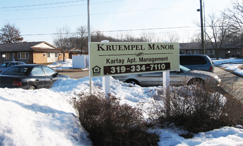 Kruempel Manor Apartments for Rent in Independence, Iowa.